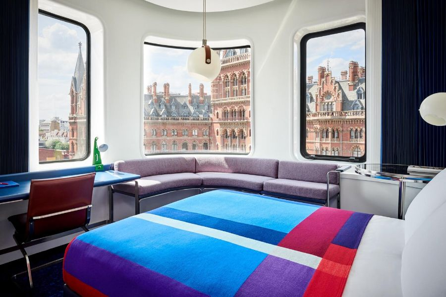 The Standard London, Bringing Bright and Bold Colours to Grey London