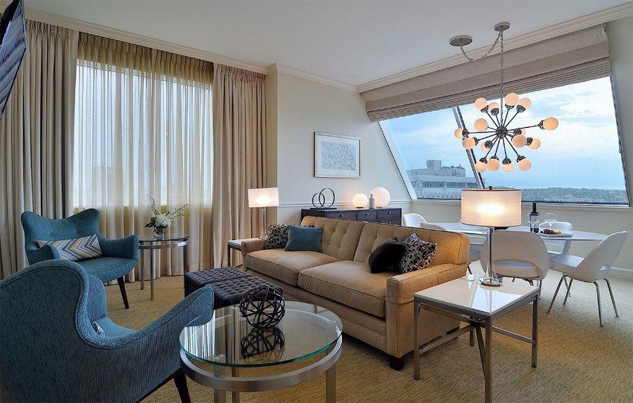 Daroff Design, Hotel Bedroom and Living Room Design Ideas